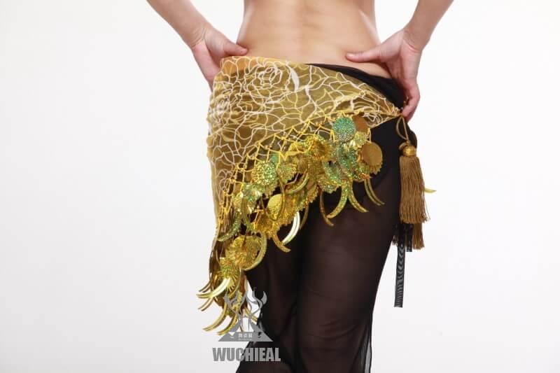 Hình ảnh Belt Hoa Kim Sa, Có Hoa Văn - SaiGon Bellydance múa bụng ấn độ