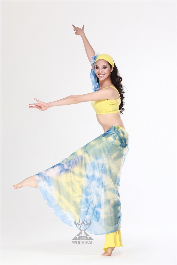 Hình ảnh Đồ Thun 2 Màu-Áo 1 Tay Dài - SaiGon Bellydance múa bụng ấn độ