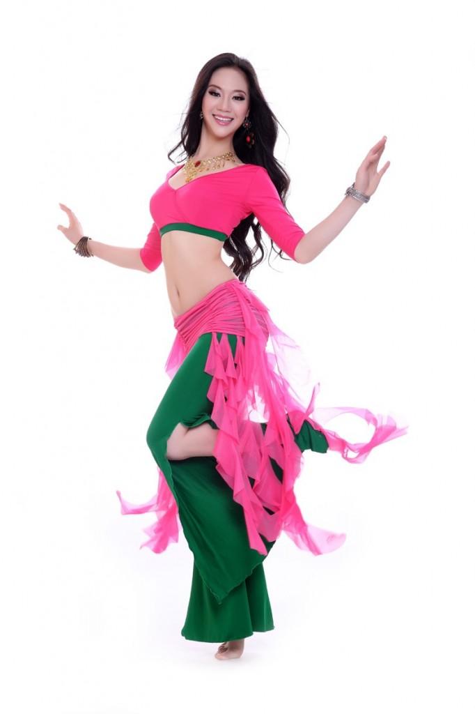Hình ảnh Đồ tập thun-quần ống rộng - SaiGon Bellydance múa bụng ấn độ