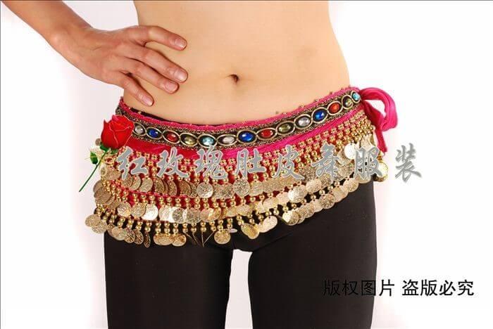 Hình ảnh Belt đồng xu  dạng ngang - SaiGon Bellydance múa bụng ấn độ